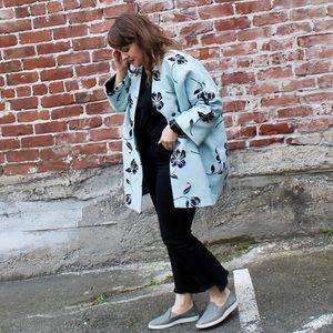 Zara Floral Cocoon Jacket